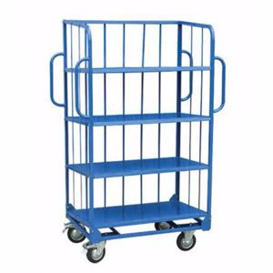 Picture of 3-Sided Sloping Shelf Truck Trolley